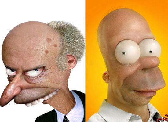 Montgomery Burns e Homer Simpson - Os Simpsons